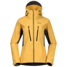Kurtka softshellowa damska Bergans of Norway Cecilie Mountain Softshell Jacket  - Light Golden Yellow / Solid Dark Grey