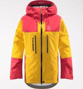 Kurtka membranowa damska Haglöfs Roc Nordic GTX Pro Jacket - Pumpkin Yellow/Hibiscus Red