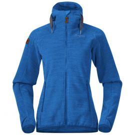 Polar damski Bergans of Norway Hareid Fleece W Jacket - Dark Riviera Blue Melange