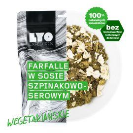 Liofilizat LyoFood Farfalle w sosie szpinakowo-serowym 370 g