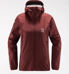 Kurtka membranowa damska Haglöfs L.I.M PROOF Multi Jacket Women - Maroon Red