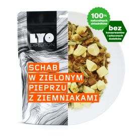 Liofilizat LyoFood Schab w zielonym pieprzu z ziemniakami 500g