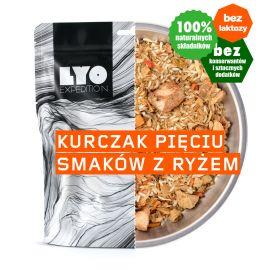 Liofilizat LyoFood Kurczak 5 smaków z ryżem 370 g