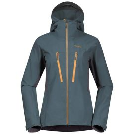 Kurtka softshellowa damska Bergans of Norway Cecilie Mountain Softshell Jacket  - Forest Frost / Solid Dark Grey / Golden Yellow