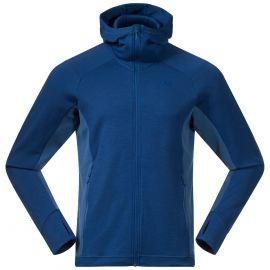 Bluza wełniana (Merino) męska Bergans of Norway Ulstein Wool Hood - Dark Riviera Blue/Riviera Blue