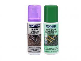 Zestaw NIKWAX Nubuk & Welur + żel czyszczący